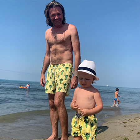 Dmitry Malikov with his son