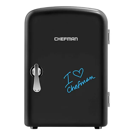 Chefman Mini Portable Eraser Board Personal Fridge
