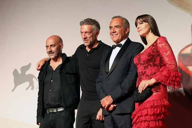 Gaspard Noe, Vincent Cassel, Alberto Barbera and Monica Bellucci and Gaspar Noe