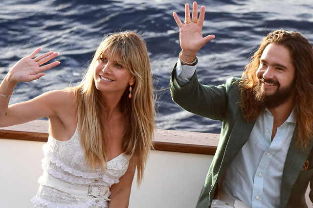 Heidi Klum and Tom Kaulitz staged a pre-wedding party on the legendary yacht
