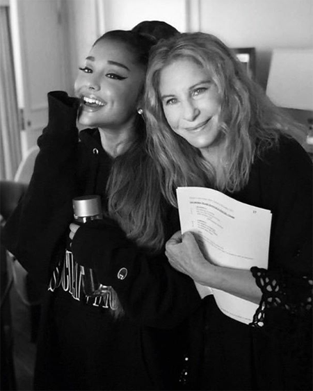 Ariana Grande and Barbra Streisand