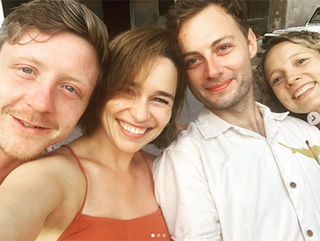Emilia Clark with friends
