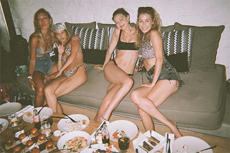 Gigi Hadid with the sisters
