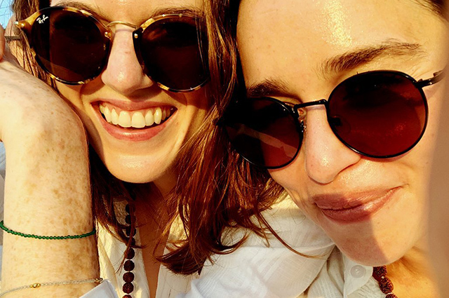 Emilia Clarke talked about a crazy vacation with Rose Leslie in India: photo