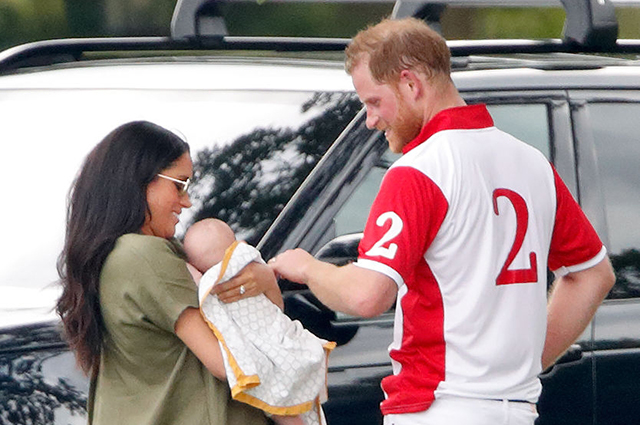Meghan Markle and Prince Harry with their son Archie