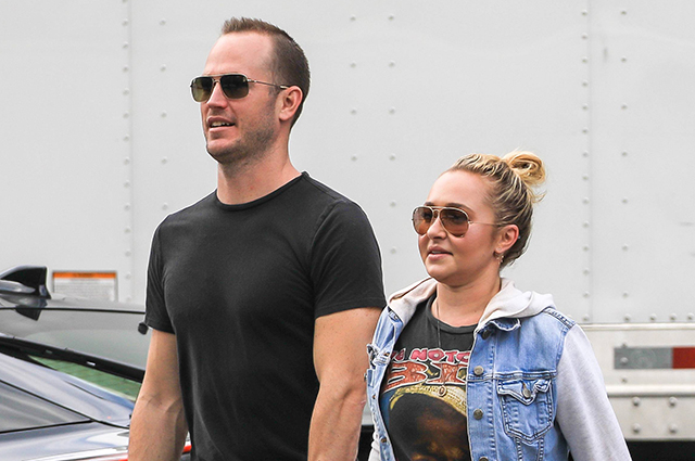 Hayden Panettiere photographed on a walk with her ex-boyfriend's brother