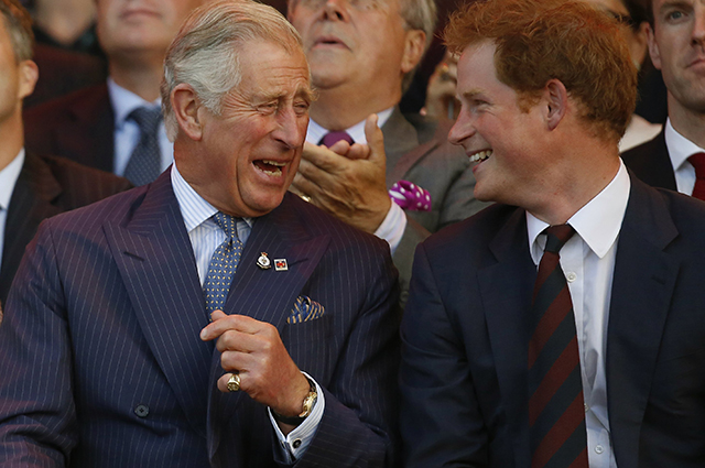 Princes Charles and Harry