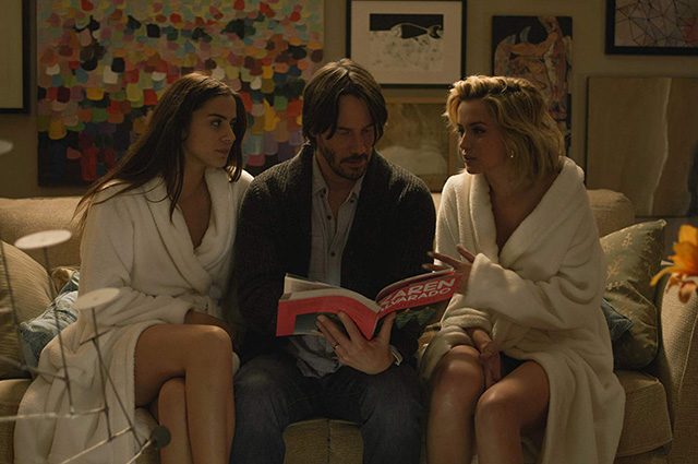 Lorenza Izzo, Keanu Reeves and Ana de Armas in the film