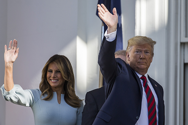 Donald and Melania Trump meet with Australian Prime Minister and his wife at the White House