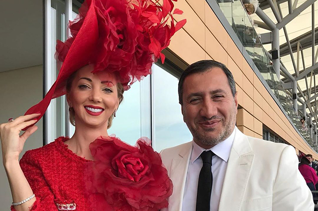 Natalya Rotenberg with her lover at the royal races of Royal Ascot