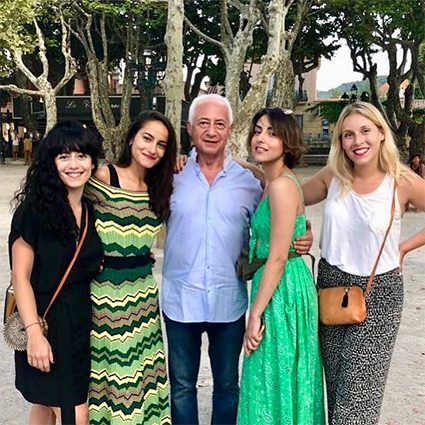Vladimir Spivakov with his daughters