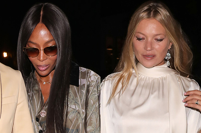 Kate Moss, Naomi Campbell, Joan Collins and others at the Vogue party in London