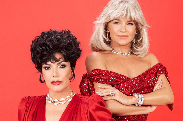 Chris Jenner and Yolanda Hadid tried on the images of the heroines of the cult series