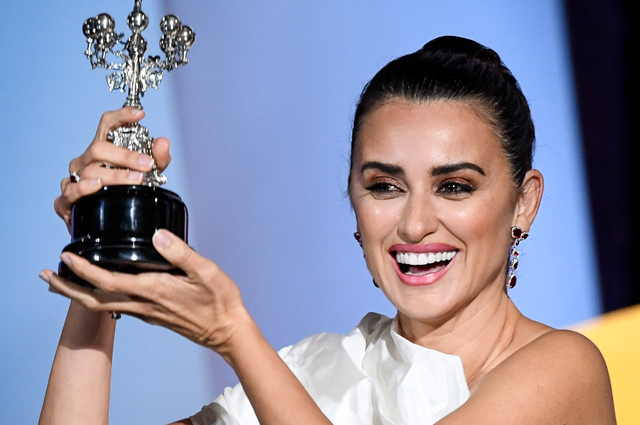 Penelope Cruz had a surprise during the award ceremony at the festival in Spain