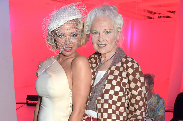 Paris Fashion Week: Pamela Anderson and Bella Hadid at Vivienne Westwood Fashion Show
