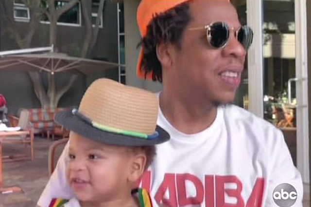 Jay-Z with his son