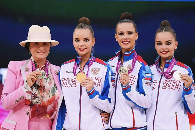 Gymnast Ekaterina Selezneva made her debut at the World Cup and won gold