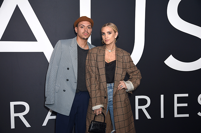 Ashley Simpson with spouse Evan Ross