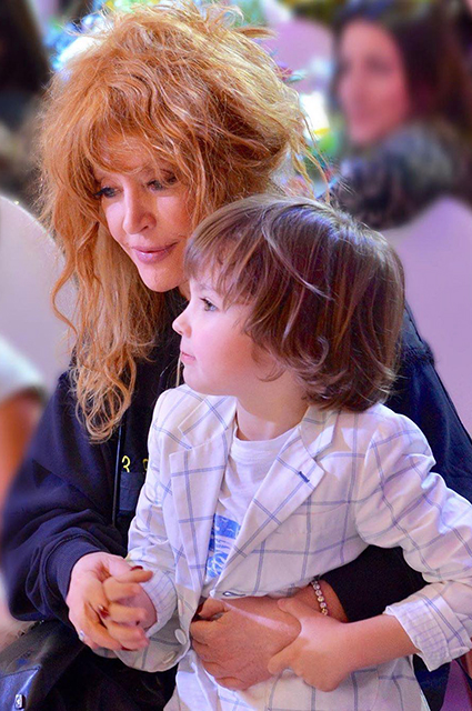 Alla Pugacheva with her son Harry