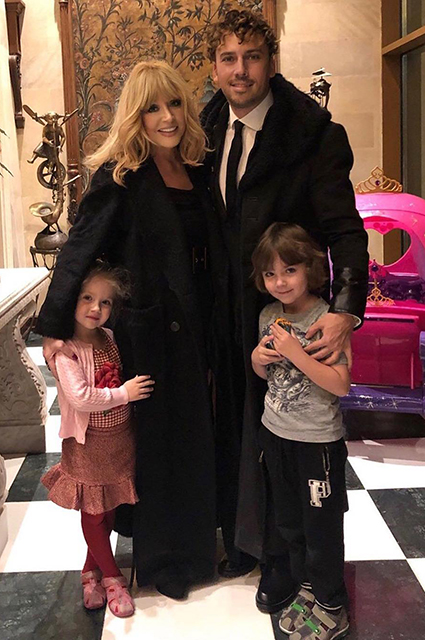 Maxim Galkin and Alla Pugacheva with daughter Lisa and son Harry