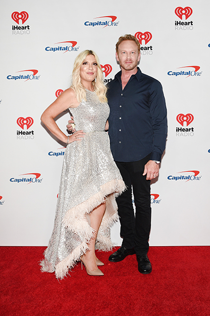 Tori Spelling and Ian Ziering
