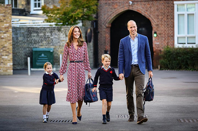 Kate Middleton and Prince William with daughter Charlotte and son George