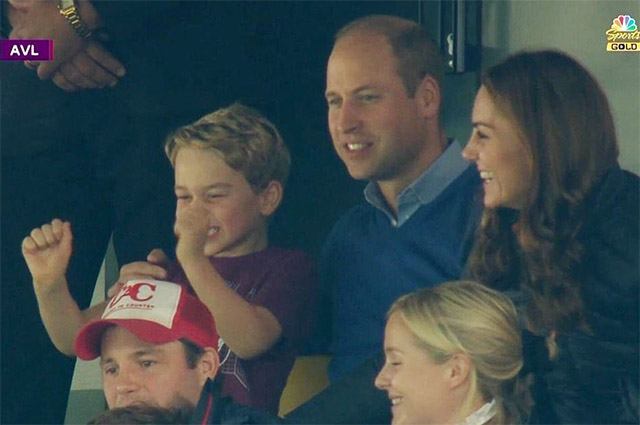Prince George's reaction to a football match with Prince William's favorite team touches the net