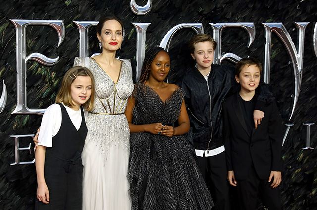 Angelina Jolie with four children, El Fanning and others at the premiere
