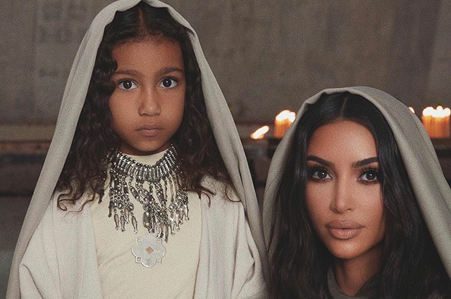 Kim Kardashian posted on the social network new shots from the ceremony of his baptism in Armenia