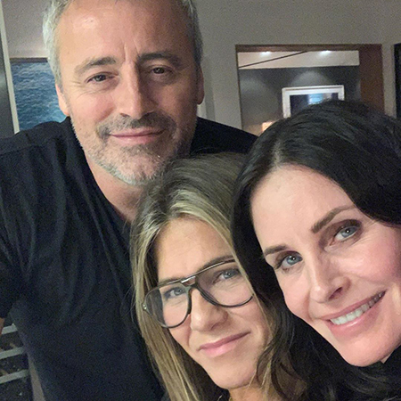 Matt LeBlanc, Jennifer Aniston and Courtney Cox
