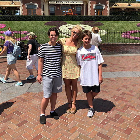 Britney Spears with sons Sean and Jaden