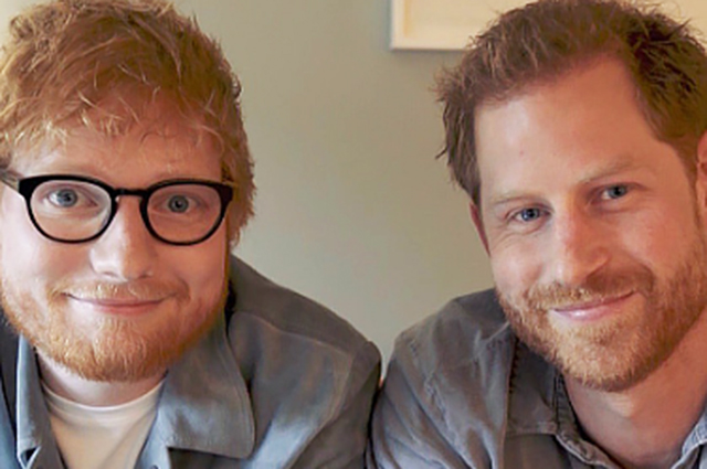 The union of the red! Prince Harry and Ed Sheeran filmed a fun video in honor of Mental Health Day