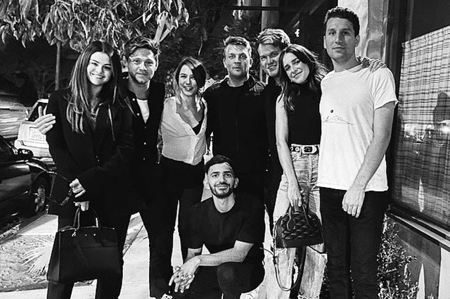 Selena Gomez and Niall Horan with friends
