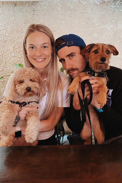 Matthew Lewis with his wife