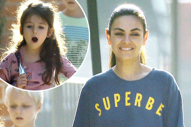 Shopping, sunshine and smiles: Mila Kunis spent the day with her daughter in West Hollywood