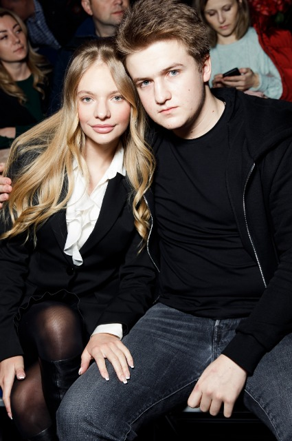 Elizaveta Peskova with brother Nikolai