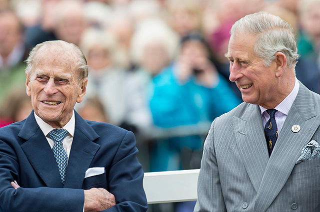 Princes Philip and Charles