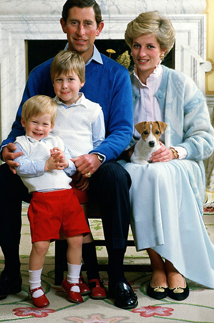 Prince Charles and Princess Diana with children: Princes William and Harry