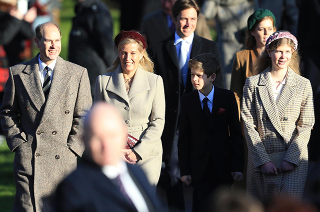 Earl Edward with wife Sophie, daughter Louise Windsor and son James, Princess Beatrice with her fiance Edoardo Mapelli-Mozzi