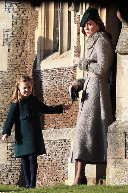 Kate Middleton with daughter Charlotte