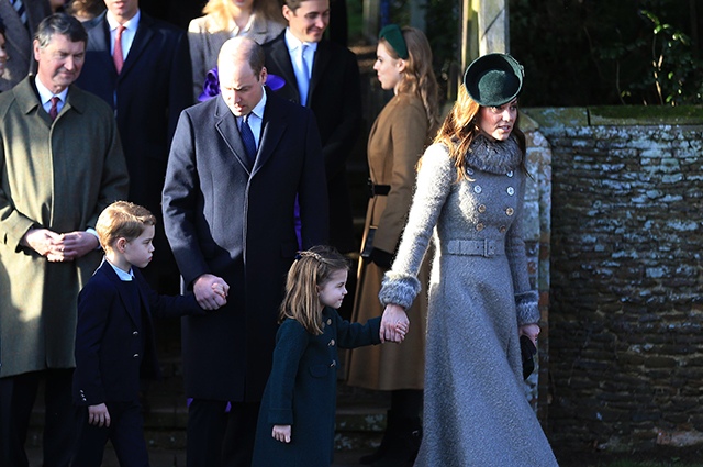 Prince William and Kate Middleton with children