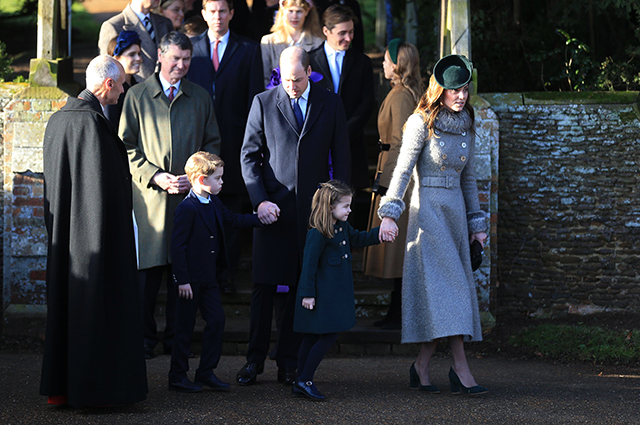 Prince George and Princess Charlotte with parents