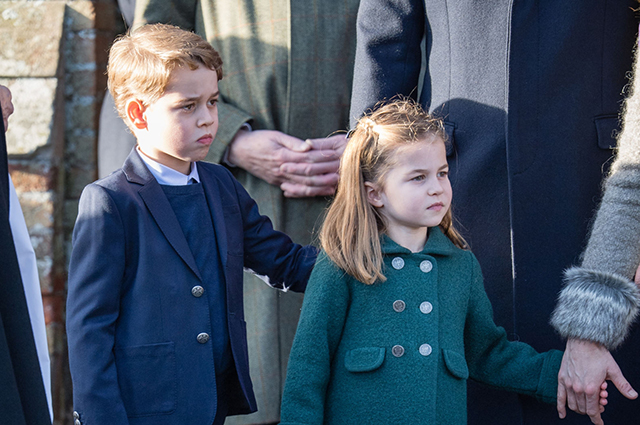 Perfect manners and courage: how Prince George and Princess Charlotte behaved in their first Christmas service