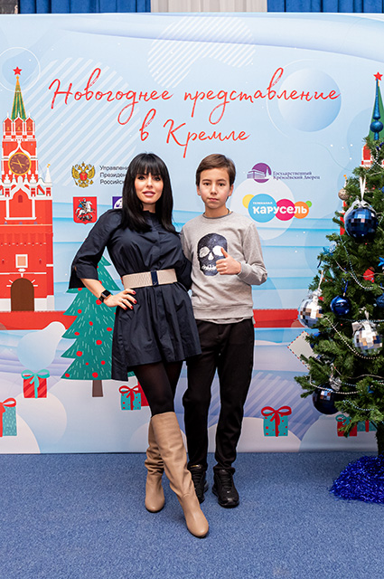 Julia Volkova with her son
