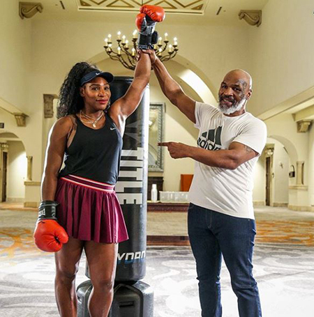 Serena Williams and Mike Tyson