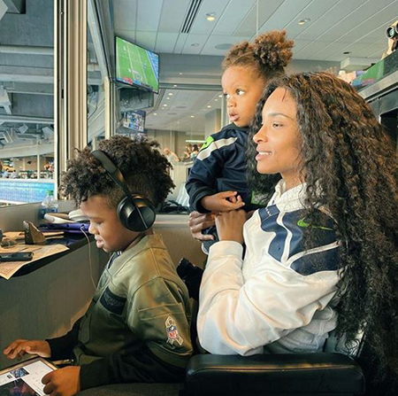 Ciara with children