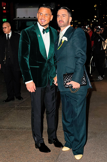 Charlie Defransco and Marc Jacobs on their wedding day