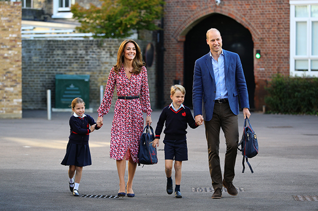 Kate Middleton and Prince William with Princess Charlotte and Prince George