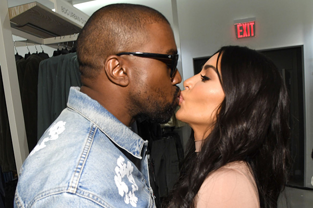 Kanye West supported his wife Kim Kardashian at the presentation of her underwear collection in New York