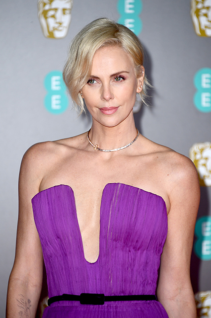 Charlize Theron in a Dior dress
